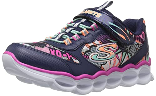 Skechers Litebeams-Colorburst, Entrenadores para Niñas, Varios Colores (Black/Multi), 29 EU