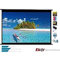 ELCOR 120-inch Diagonal HI-Gain Fabric Map Type Projector Screen, White