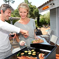 Heizstrahler am Grill