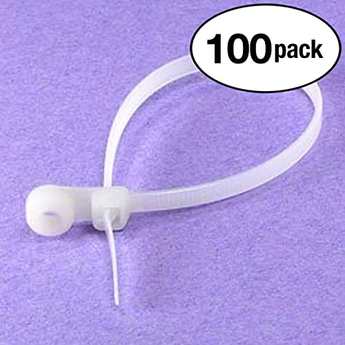 InstallerParts 100 Pack 8 Wall Mountable Cable Tie Clear 100 Pieces per Pack