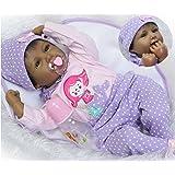 Reborn Baby Dolls African American Girl Black...