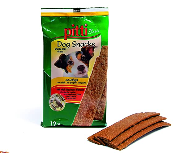 pitti Dog Snacks Kaustreifen mit Huhn und Truthahn 20 Stück
