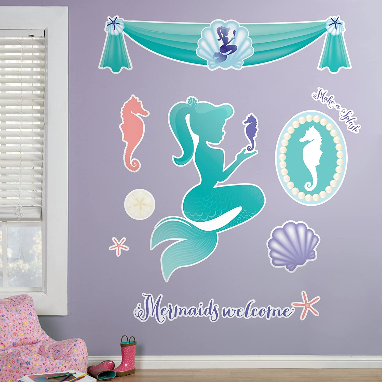 Amazon Com Birthdayexpress Mermaids Under The Sea Room