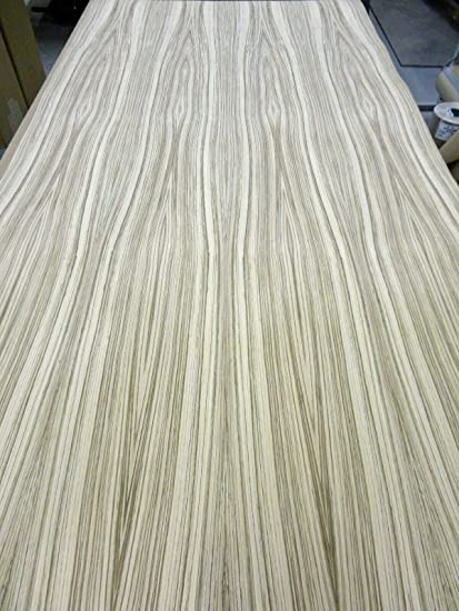 """Zebrawood African genuine wood veneer 24/"""" x 96/"""" with paper backer 1//40th/"""" thick"""