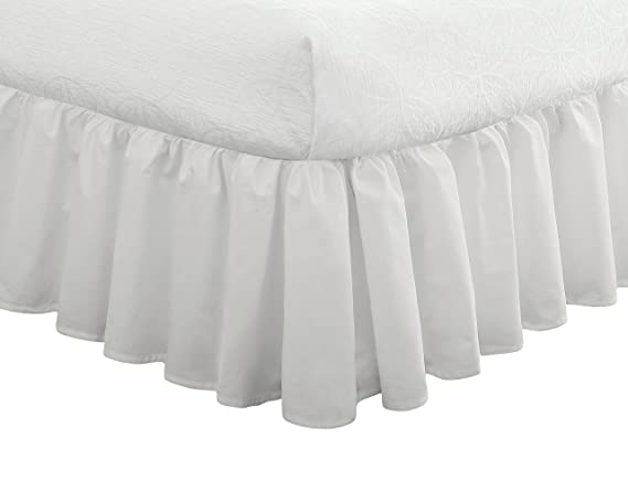 Fresh Ideas Polyester Bedding Ruffled Bed Skirt, Classic 14