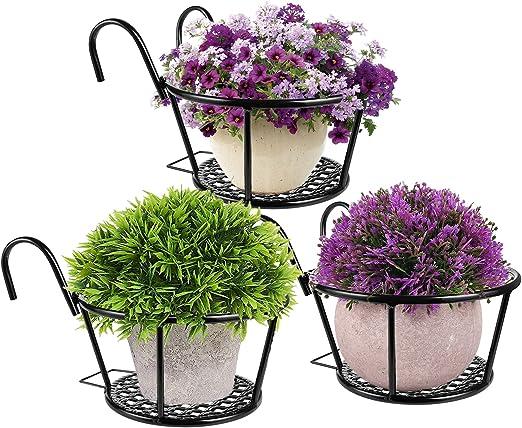 Details about  /4x Vintage Metal Wire Hanging Planter Basket Flower Pot Bracket Holders Iron Art