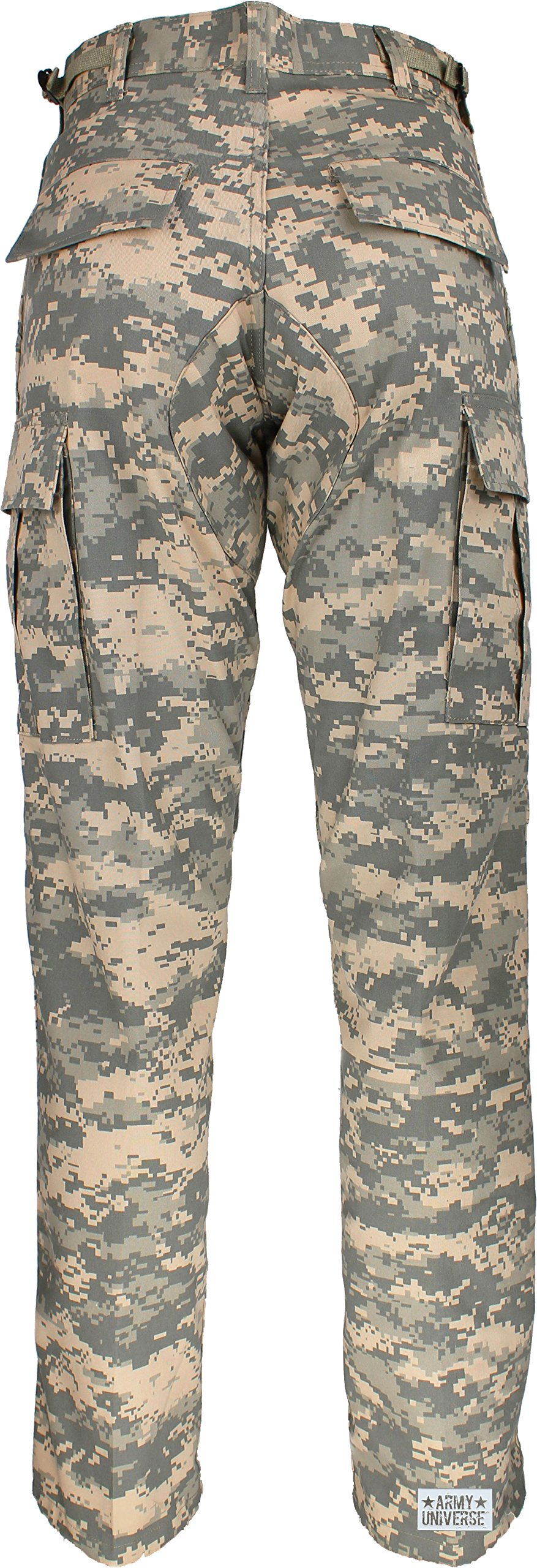 Mens Woodland Digital Camo Poly Cotton Military BDU Army Fatigues Cargo  Pants with Official ArmyUniverse Pin a0f4109c4d2