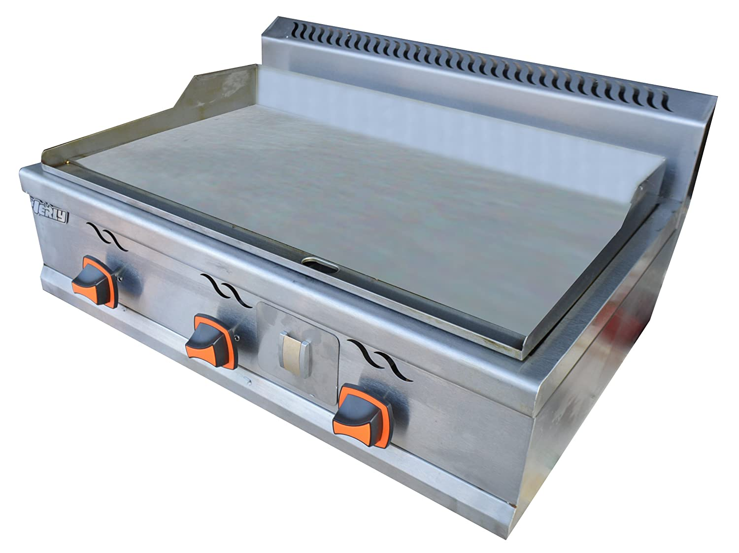 Amazon.com: Commercial Stainless Steel Kitchen Teppanyaki Natural ...