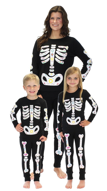 Sleepyheads Halloween Skeleton Bones Family Matching Pajama Set