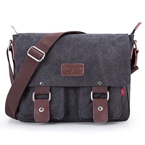 Image Unavailable. Image not available for. Color  Bienna Vintage Canvas  Messenger Bag Satchel Laptop Over Shoulder Crossbody Side Bags with Zipper for  Men 222034e567028