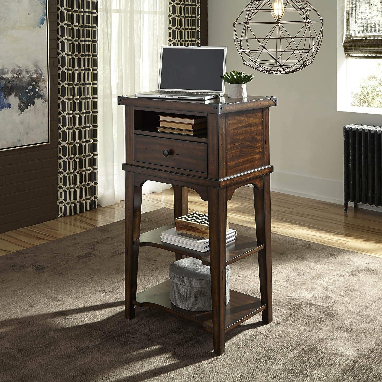 Liberty Furniture Industries Aspen Skies Stand Alone Laptop Desk, W24 x D18 x H42, Medium Brown