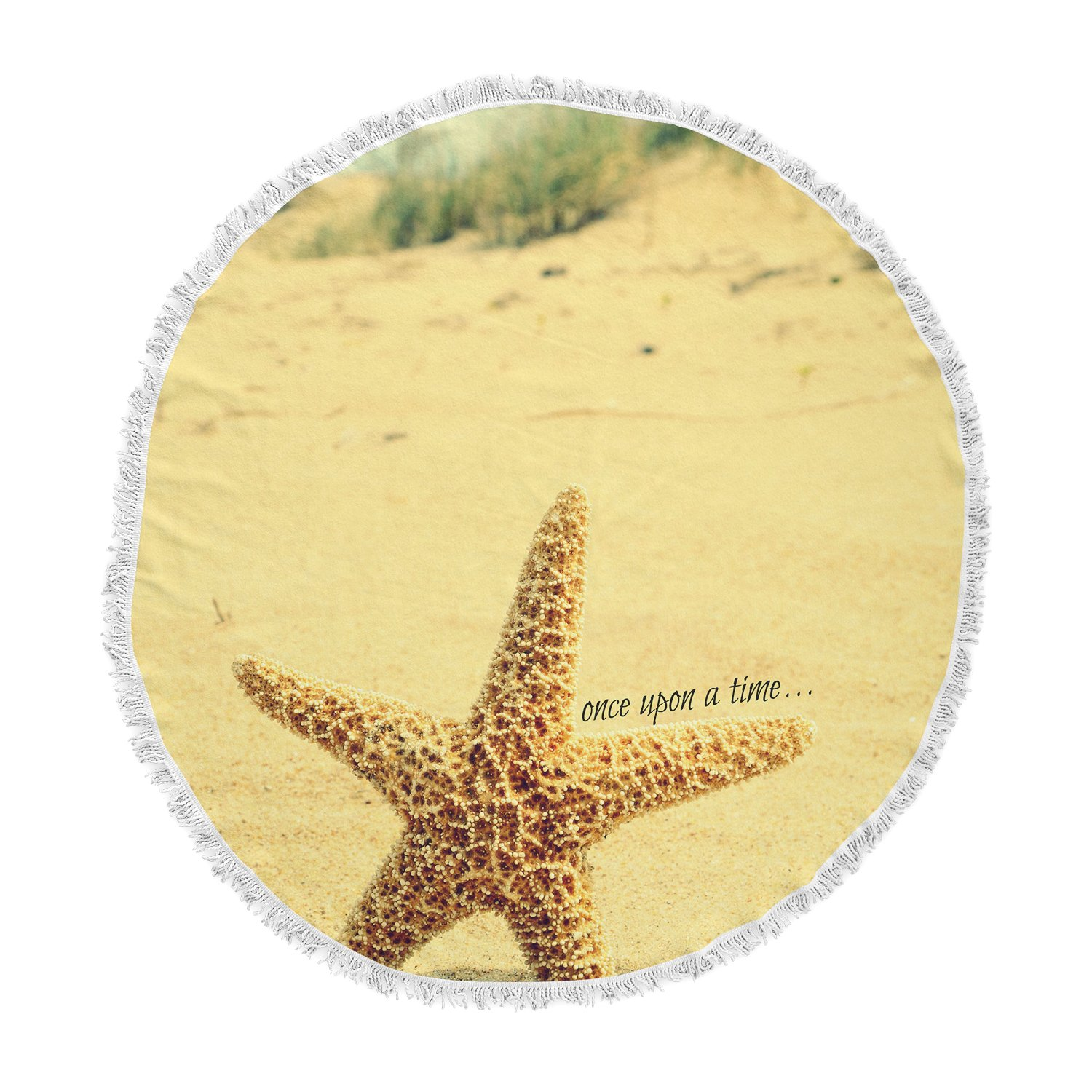 Kess InHouse Robin Dickinson Once Upon a Time Starfish Round Beach Towel Blanket