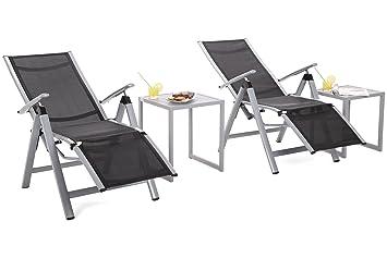 bestshop24.eu Aluminio sillas Plegables Set de 2 sillas de ...
