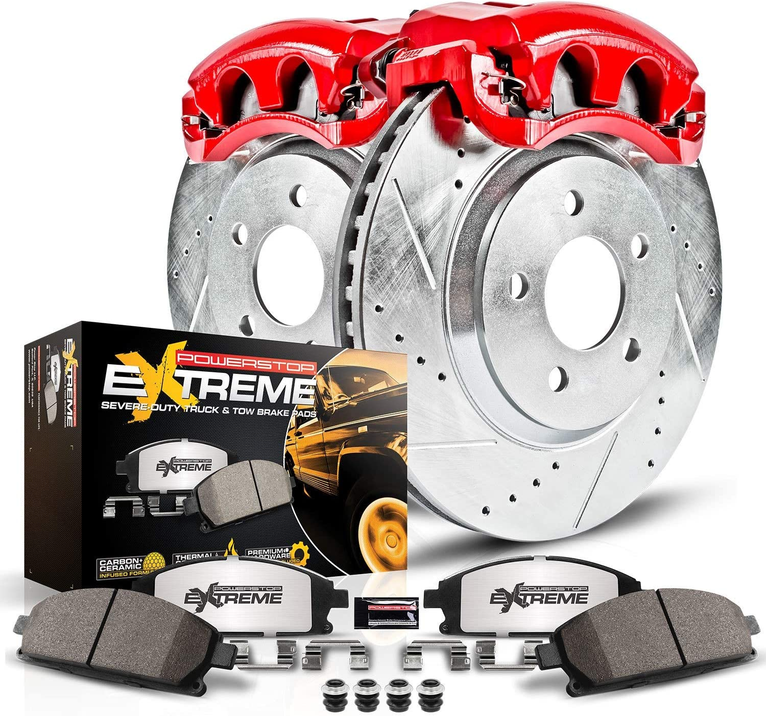 Power Stop KC2071-36 Front Z36 Truck and Tow Brake Kit with Calipers