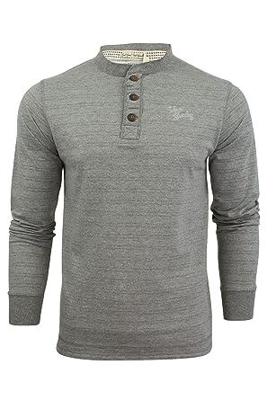 31e27fd1877ffa Herren langärmliges T-Shirt oberteil von Tokyo Laundry mit Grossvater  Kragen (Winter Peak