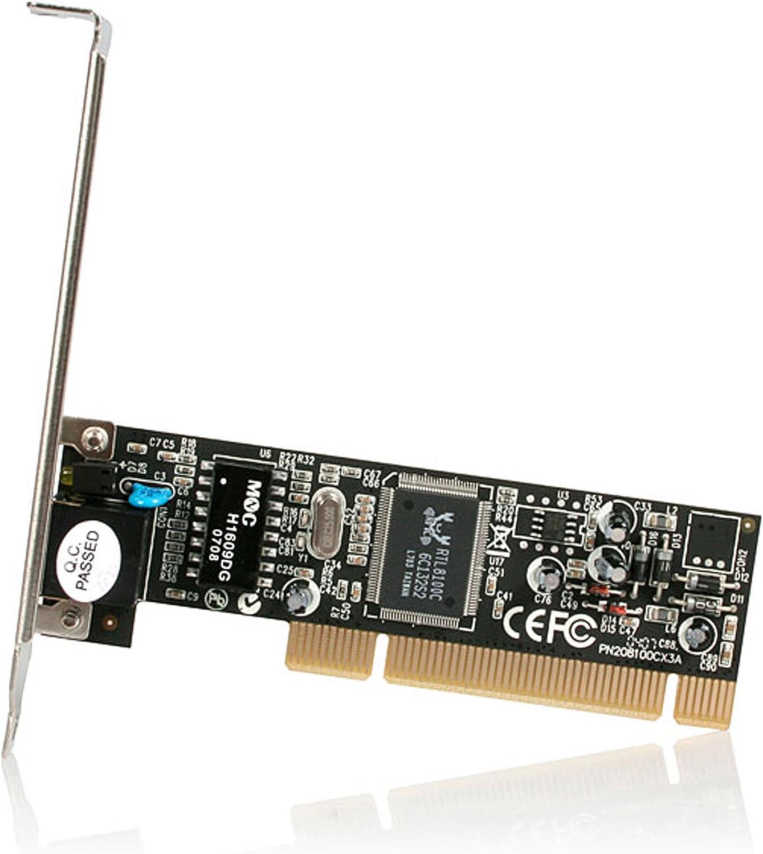 Auto Negotiation Ethernet Card ST100S StarTech.com 1 Port PCI Network Card 10//100Mbps RJ45 Port