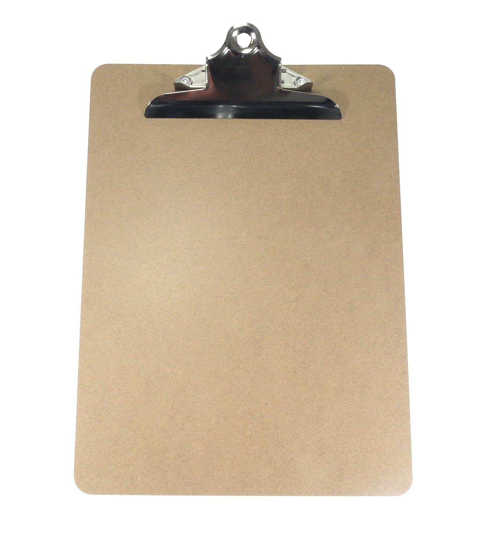La robusta clip cromata con doppia molla mantiene i documenti al sicuro. 10 Appunti A4 di alta qualit/à Articoli originali9to5 Supplies di Britten /& James/® Superficie liscia di masonite