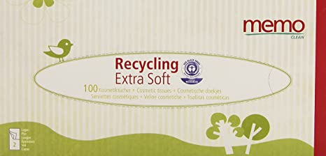 memo hygine bio eco mh1067 tissues recycled paper pack of 100 in box