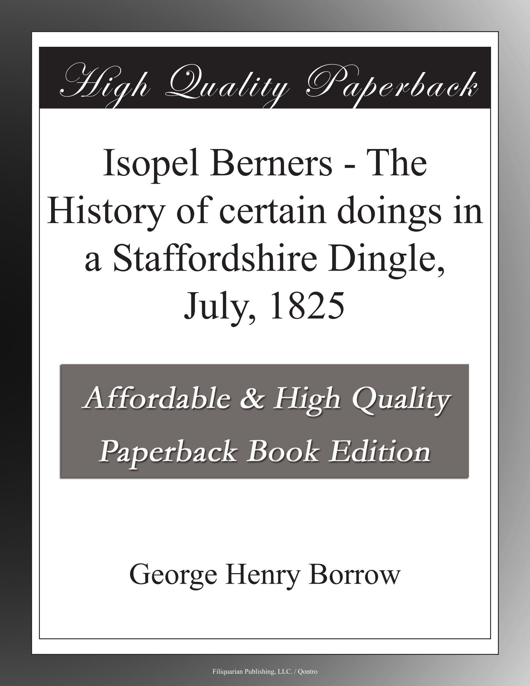 Isopel Berners - The History of certain doings in a Staffordshire ...