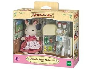 Sylvanian Families 5014 Chocolate Rabbit Mother Set, Multicolor