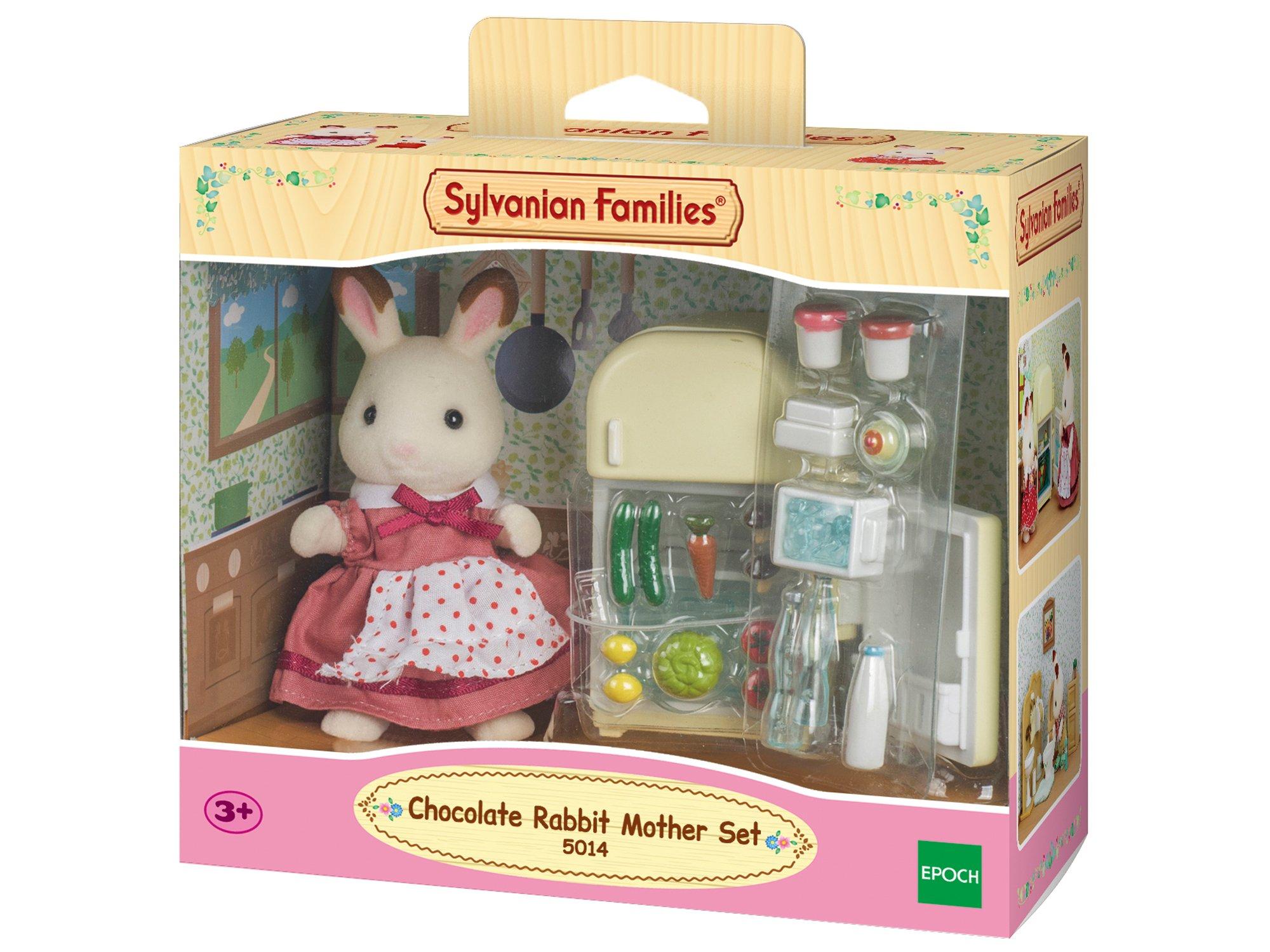 Sylvanian Families Rabbit Mother Set Maman Lapin Chocolat/Réfrigérateur, 5014, Multicolore product image