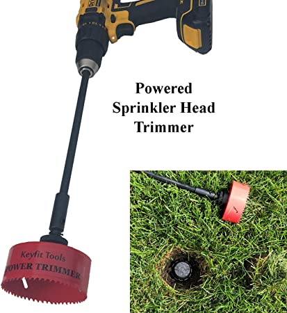 Amazon Com Keyfit Tools Power Sprinkler Head Trimmer 4 Diameter Trim Your Rotors Spray Heads In Seconds For Overgrown Sprinklers Clean Appearance Adjustment Replacement Raising Cordless Drill Attachment