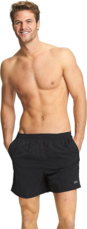 Multi Chlorine Proof with Drawstring Waist Zoggs Men/'s Swim Shorts in Navy