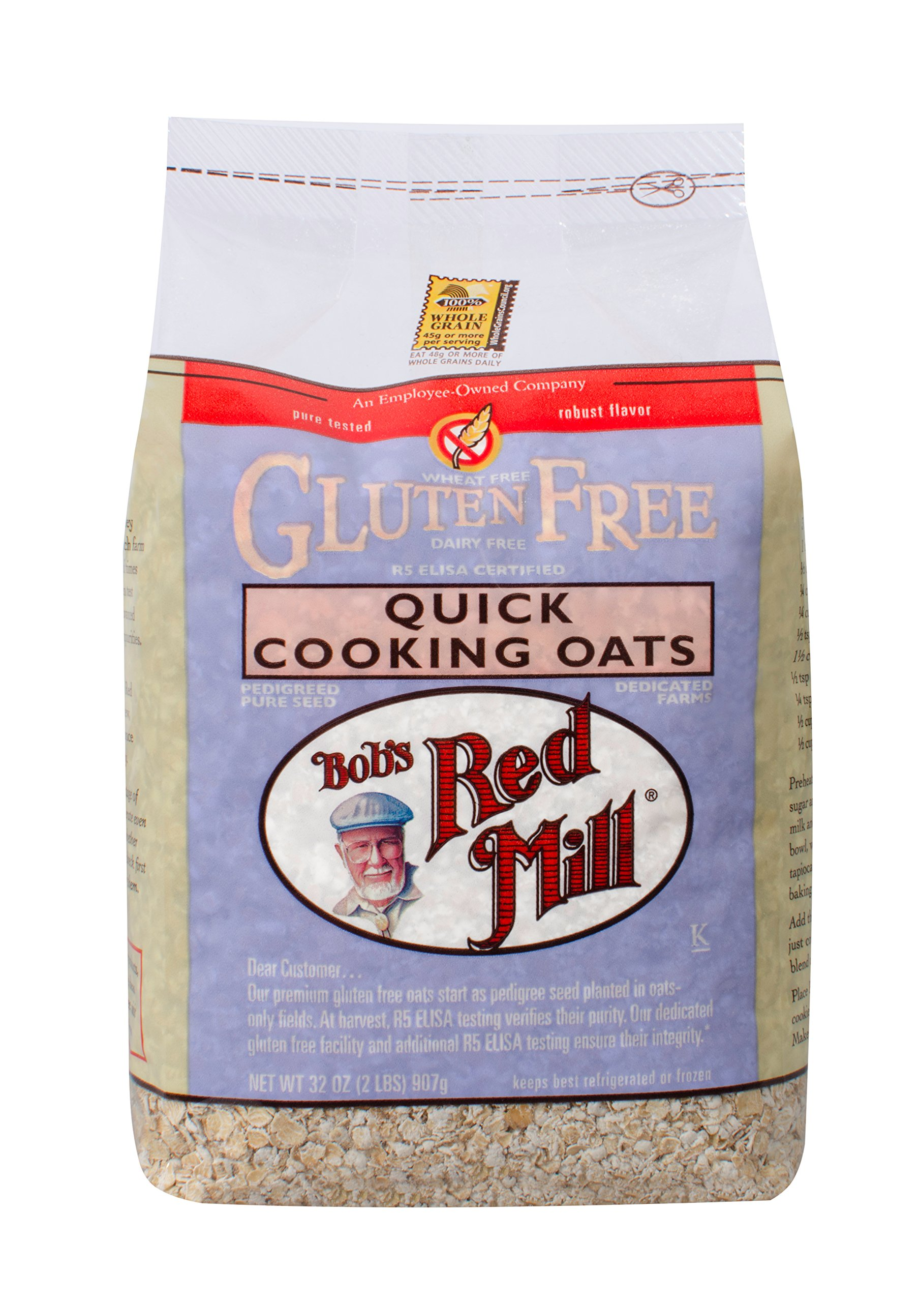 Bobs Red Mill Gluten Free Quick Cooking Oats, 2.13 Pound by Bob's Red Mill (Image #1)