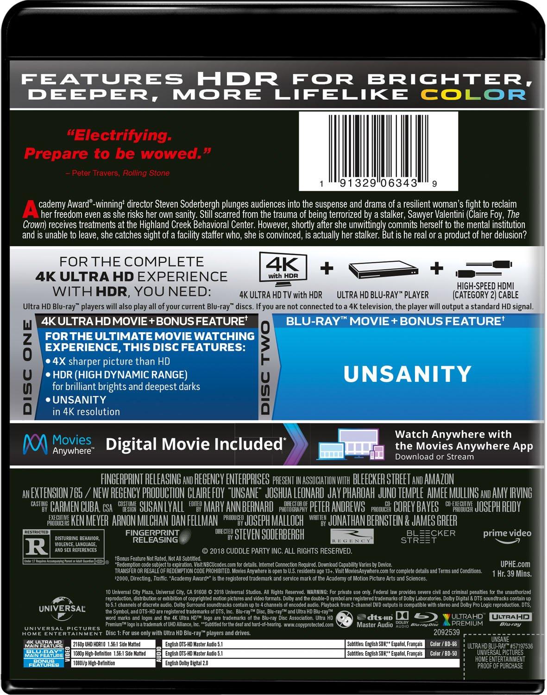 Amazon.com: Unsane [Blu-ray]: Claire Foy, Joshua Leonard, Jay ...