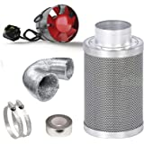 "BLACK ORCHID 4"" Extractor Fan Carbon Filter Kit Hydroponic Grow Room Tent Air Ventilation System"