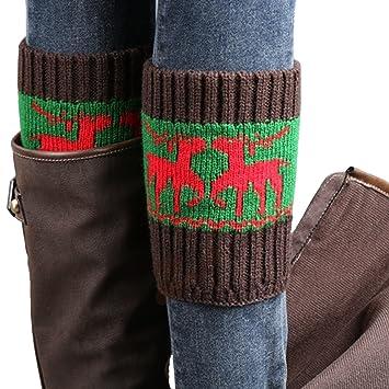 Vococal-Botas Calcetines de Crochet / Calentadores de Punto para ...
