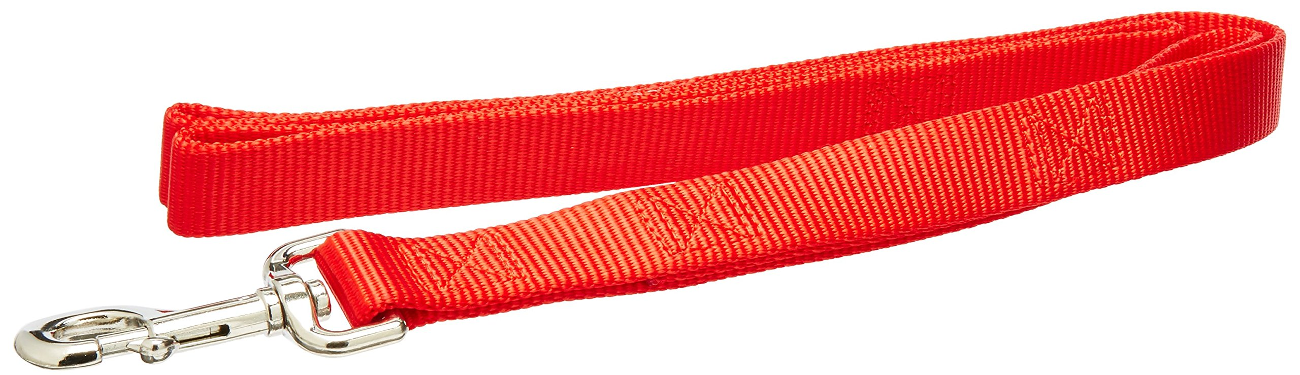Coastal Pet Products DCP904HRED Nylon Loops 2 Double Handle Dog Leash, 1-Inch by 4-Feet, Red