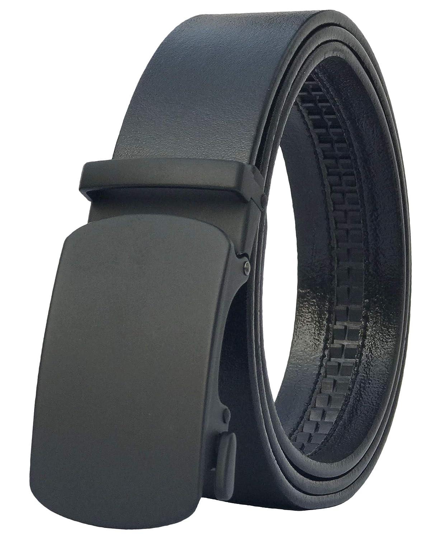 Men's Belt, West Leathers Slide Ratchet Belt for Men with Top Grain Leather, Trim to Fit B2018AC