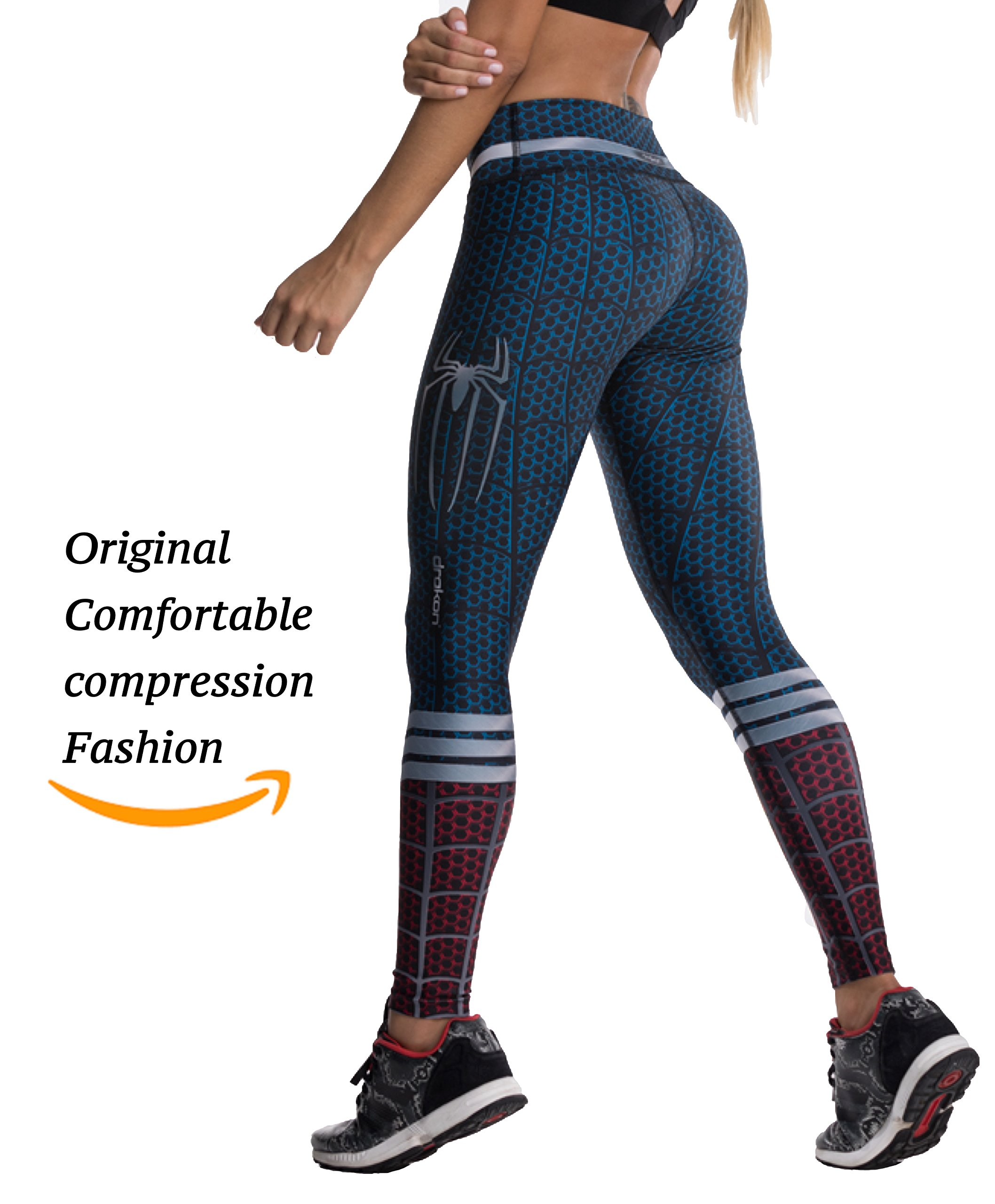 Drakon Many Styles of Crossfit Leggings Women Colombian Yoga Pants Compression Tights (Spider Man)