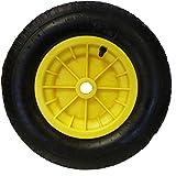 """16"""" (4.80/4.00 - 8) Pneumatic Wheelbarrow Wheel (YELLOW) Launching Trolley"""
