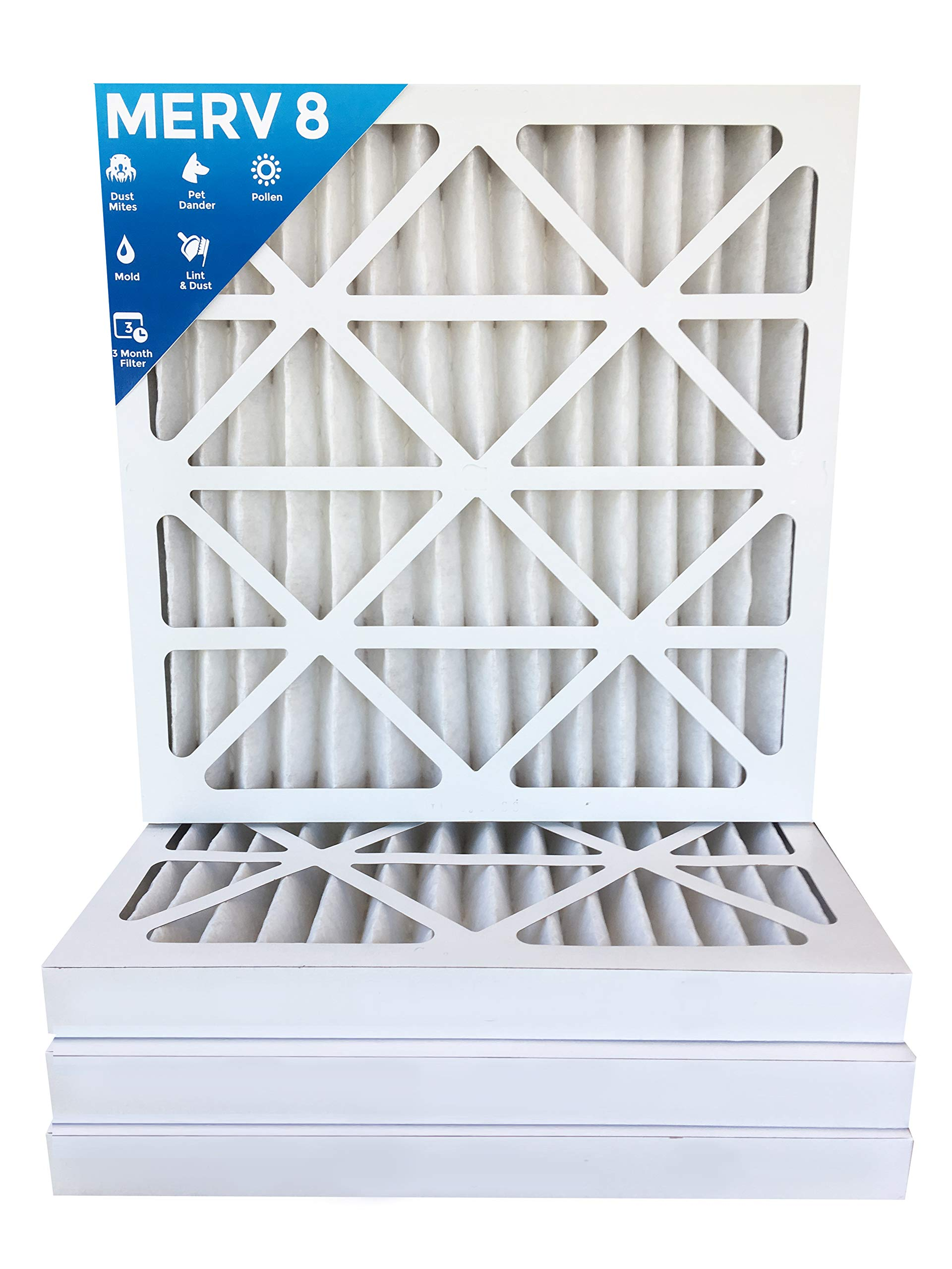 18x24x2 MERV 8 AC Furnace 2'' Inch Air Filters - 12 PACK by Filters Delivered
