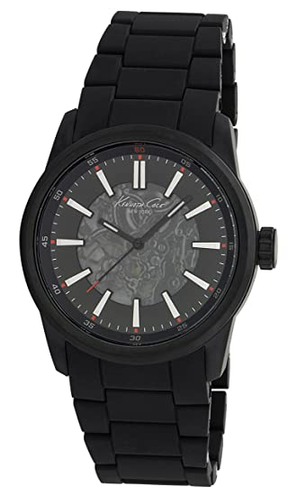 Kenneth Cole KC9004 - Reloj analógico de caballero automático con correa negra: Kenneth Cole: Amazon.es: Relojes