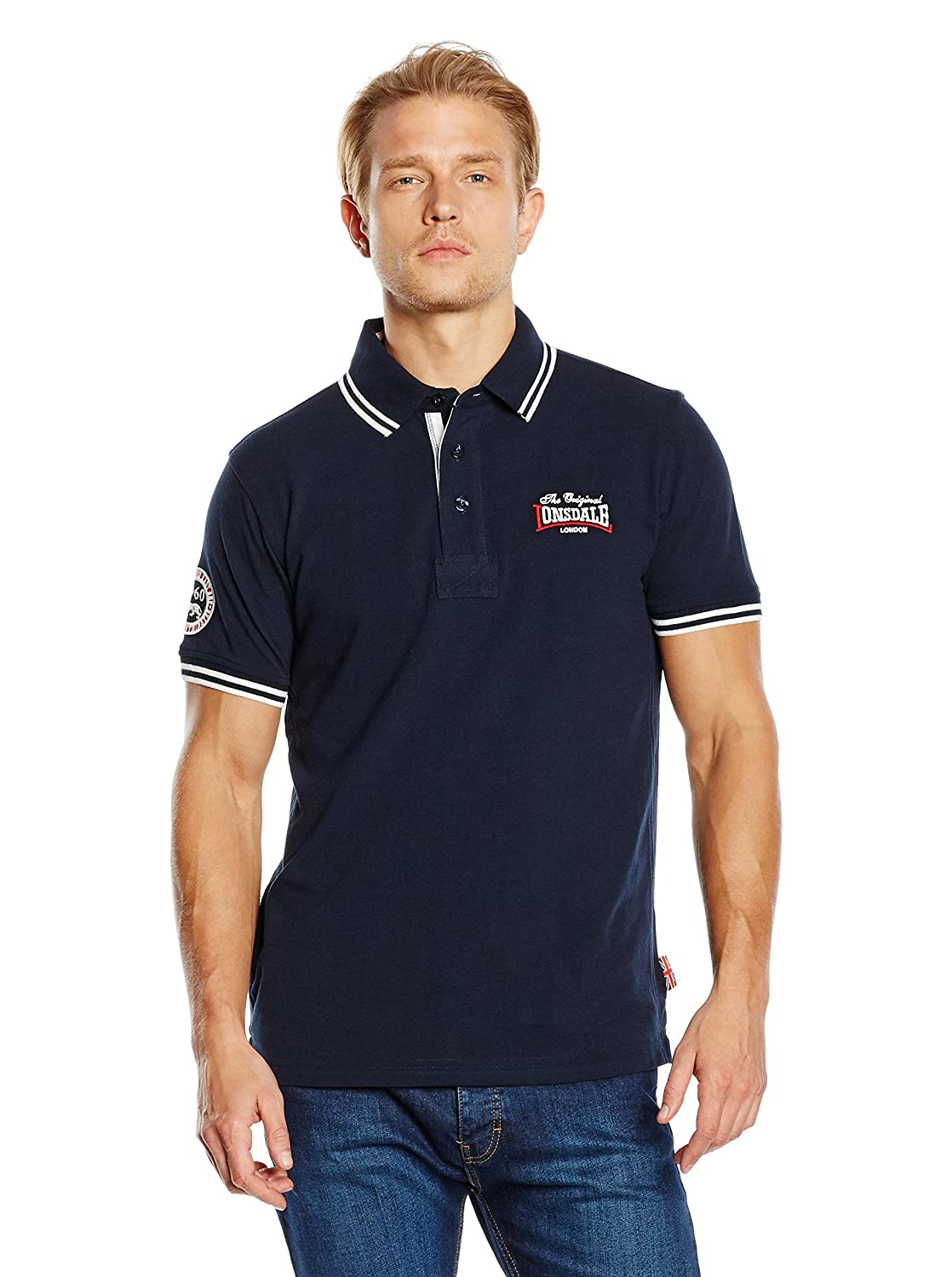 Lonsdale Polo Azul Marino XL (UK L): Amazon.es: Ropa y accesorios