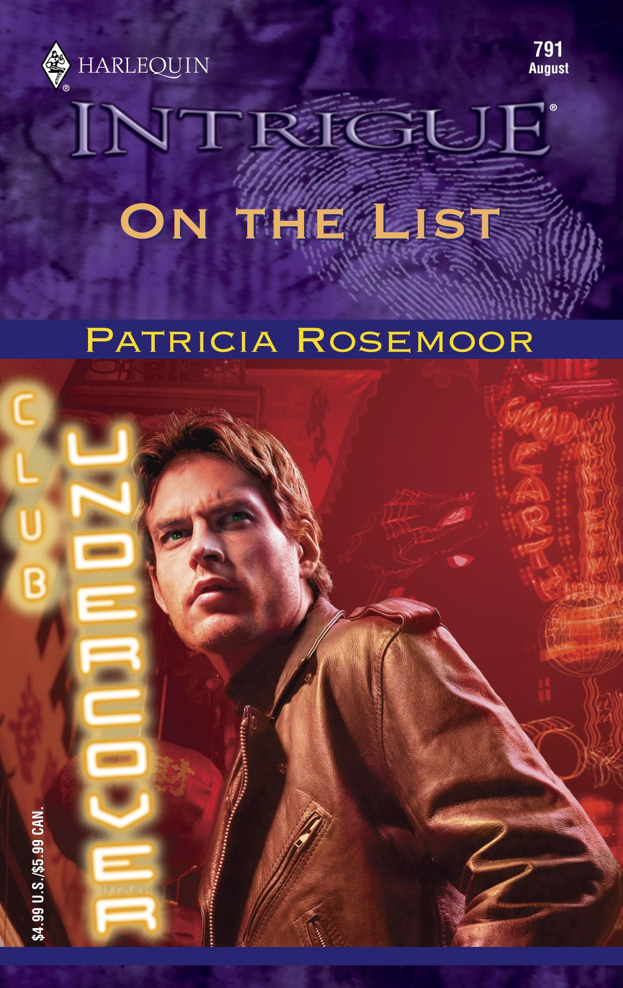 Download On The List (Harlequin Intrigue No 791) (Club Undercover) pdf
