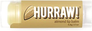 product image for Hurraw! Almond Lip Balm, 4.8g/.17oz: Organic, Certified Vegan, Cruelty and Gluten Free. Non-GMO, 100% Natural Ingredients. Bee, Shea, Soy and Palm Free. Made in USA