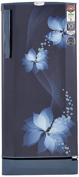 Godrej 190 L 5 Star Direct Cool Single Door Refrigerator(R D EPro 205 TAI 5.2 BRZ BLU, Breeze Blue, Inverter Compressor) Refrigerators at amazon