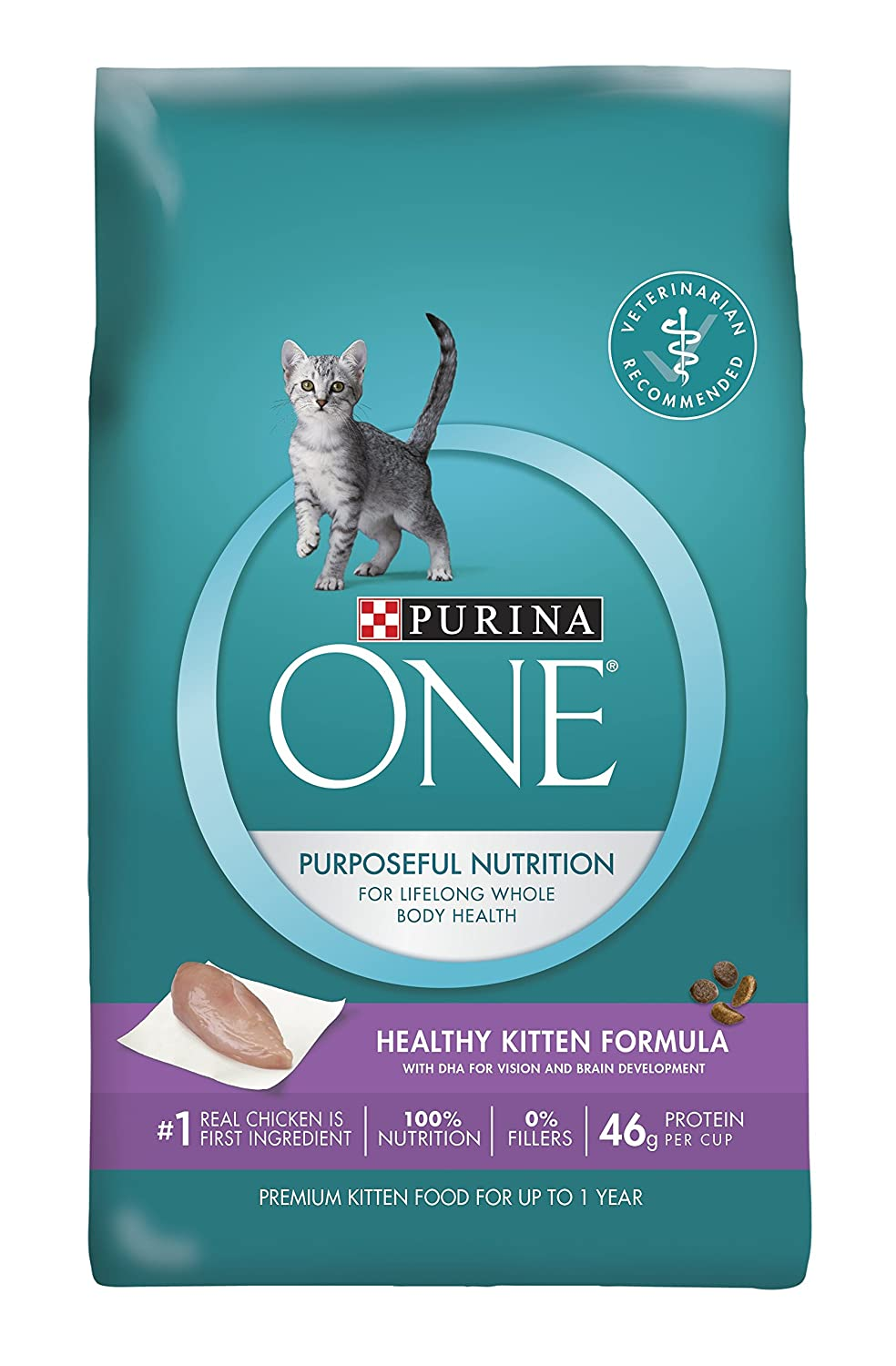 Amazon Purina ONE Healthy Kitten Formula Premium Dry Cat