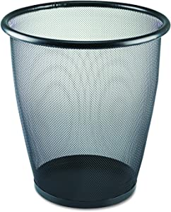 Safco Products 9717BL Onyx Mesh Round Wastebasket, 5-Gallon, Black