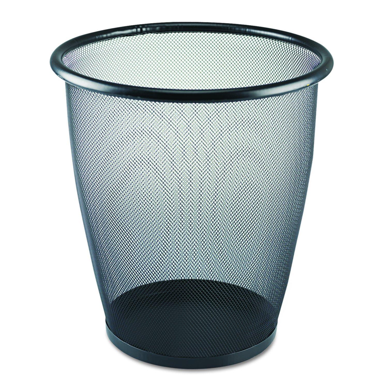 Amazon.com: Safco Products 9718BL Onyx Mesh Large Round Wastebasket ...