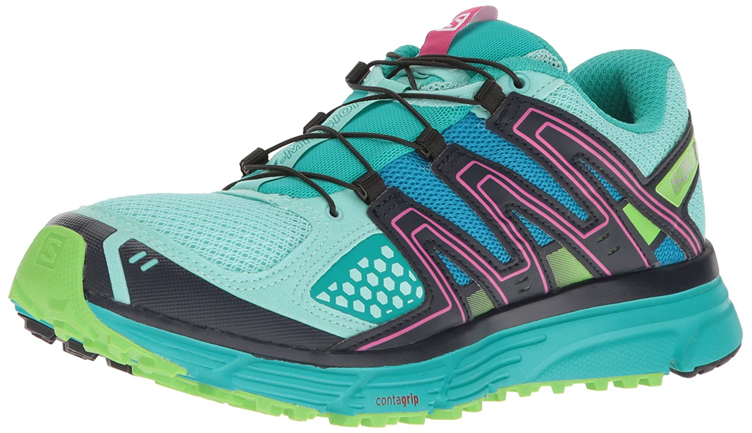 Salomon Women's X-Mission 3 W-w B01HD1V8BS 10.5 B(M) US|Aruba Blue/Navy Blazer/Green Flash