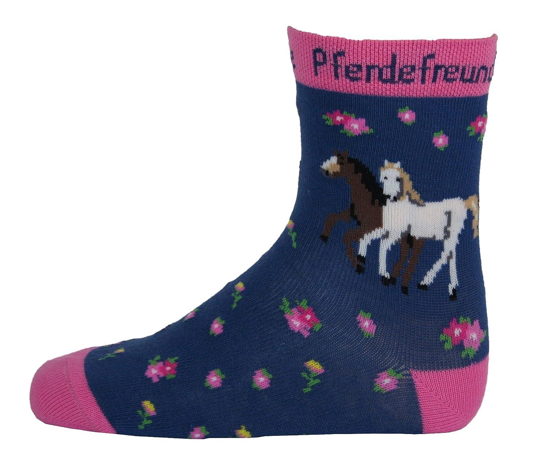 Pferdefreunde Socken Kinder Strümpfe für Mädchen in verschiedenen Farben - Söckchen mit Pferde Motiv - Versch. Größen 23-38