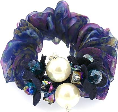 COMELYJEWEL Filles Cheveux Accessoires Ajustable Perles Mod/èle /Élastique Cheveux Attacher Chouchou pour Femmes
