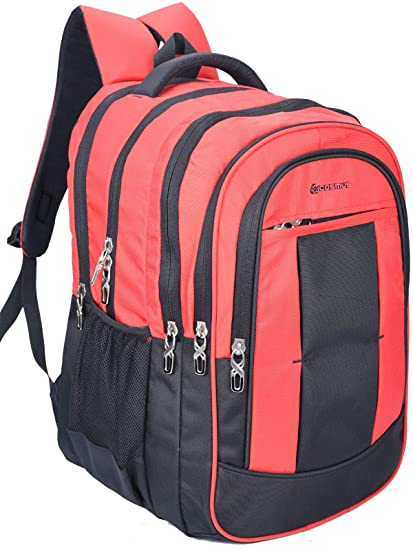 a84f7eb7af Cosmus Belfast Large 36 Litre Polyester Red Travel Backpack - Big School Bag   Amazon.in  Bags