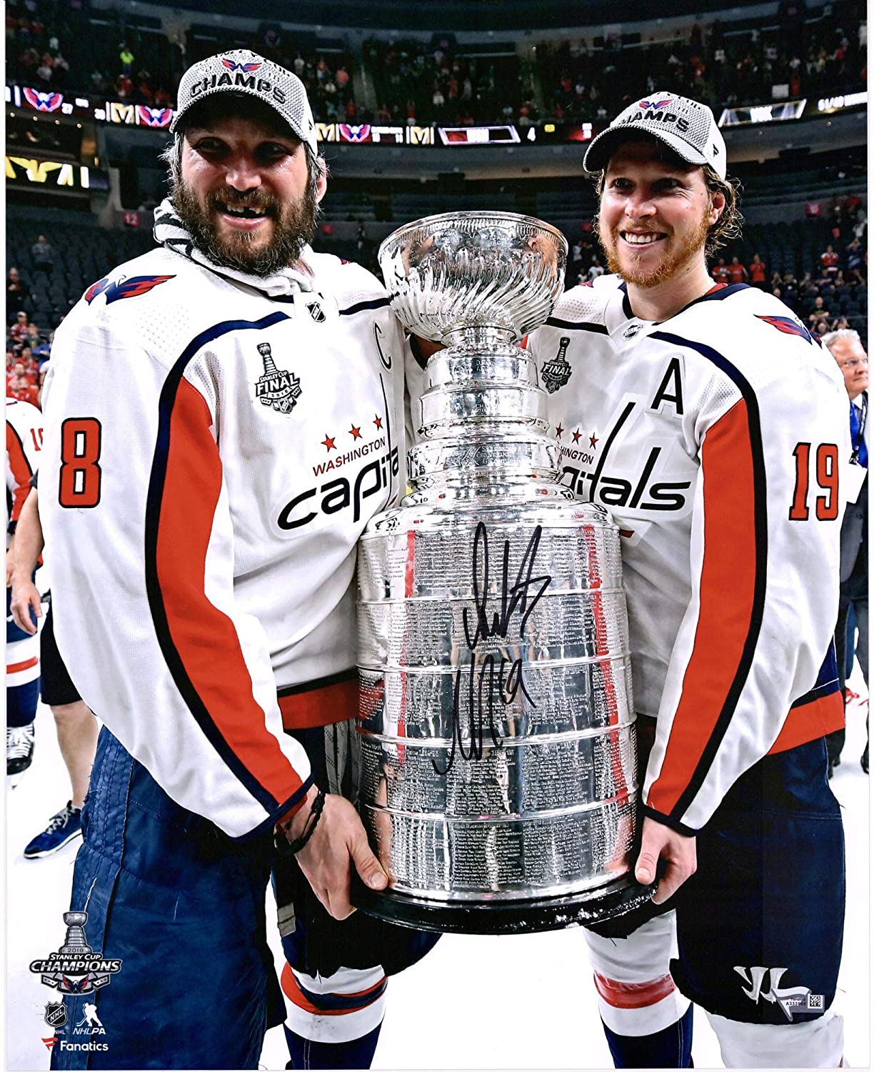 Alex Ovechkin & Nicklas Backstrom Washington Capitals 2018 Stanley Cup Champions Autographed 16' x 20' Raising Cup Photograph - Fanatics Authentic Certified