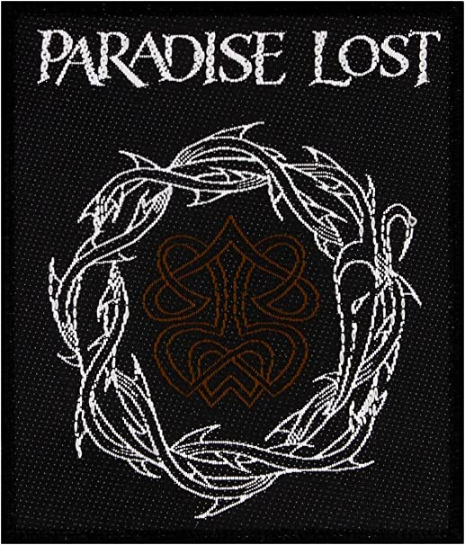Paradise Lost Crown Of Thrones Patch Gothic Metal Band Woven Sew On Applique